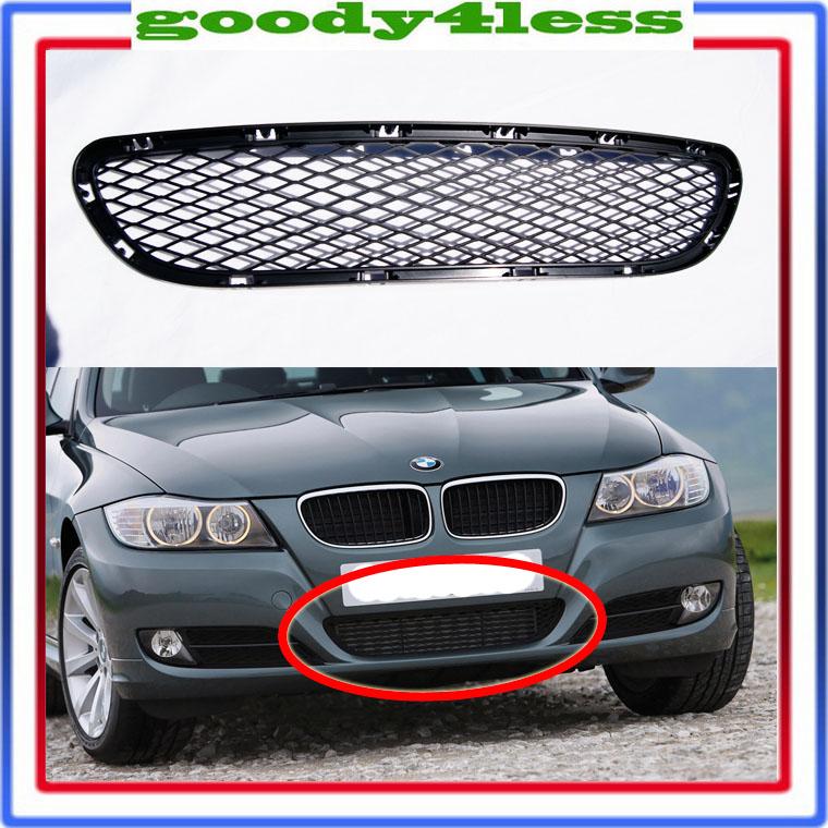 09 10 11 BMW E90 328i 335i Front Bumper Center Black