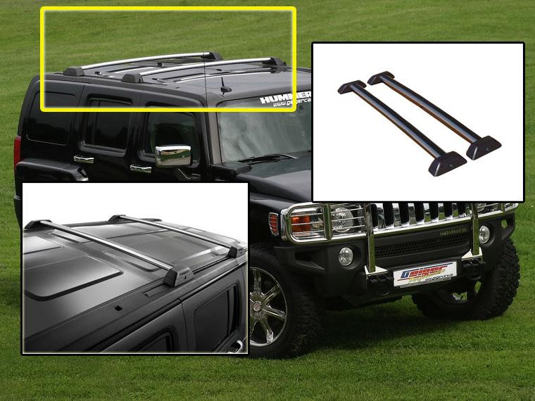 06 07 08 09 10 hummer h3 oe style roof rack cross bars set. Black Bedroom Furniture Sets. Home Design Ideas