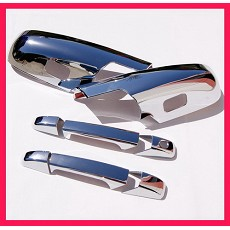VioCH 07-10 Silverado Sierra Chrome Door Handle Mirror